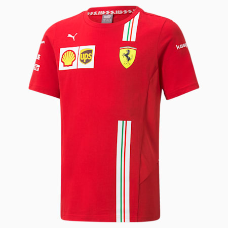 Camiseta de automovilismo juvenil Scuderia Ferrari Team, Rosso Corsa, small