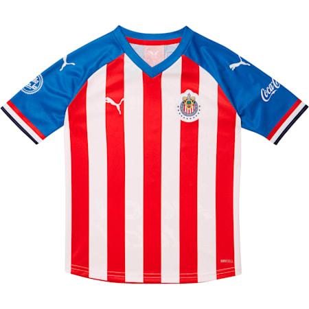Chivas 2019-20 Kids' Home Replica Jersey, Puma Red-Puma Royal, small