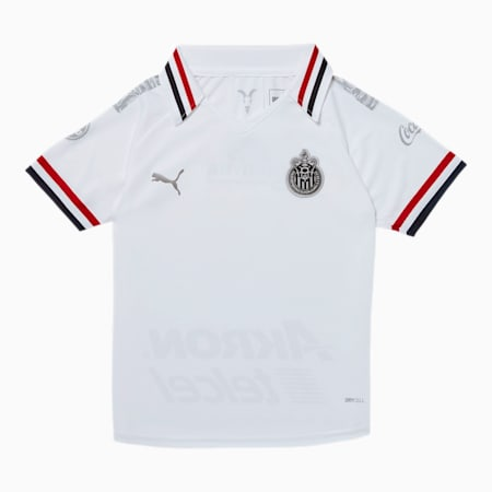 Chivas Kids' Alternative Replica Jersey, Puma White, small