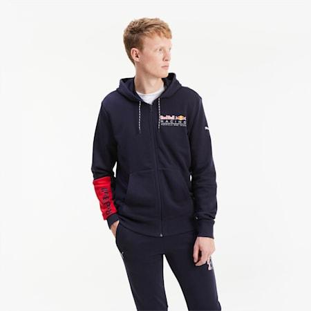 Blouson de sweat à capuche Red Bull Racing Logo pour homme, NIGHT SKY, small