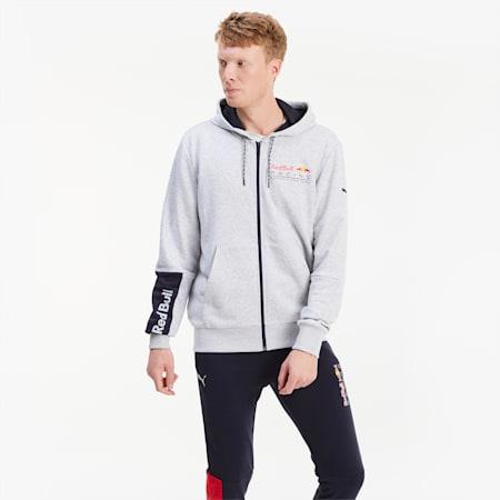 Blouson de sweat à capuche Red Bull Racing Logo pour homme, Light Gray Heather, small