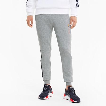 Red Bull Racing Men's Logo Sweatpants, Light Gray Heather, small