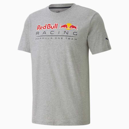 Red Bull Racing Logo Men's Tee, Light Gray Heather, small-SEA