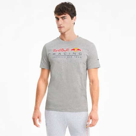 Red Bull Racing Men's Logo Tee, Light Gray Heather, small