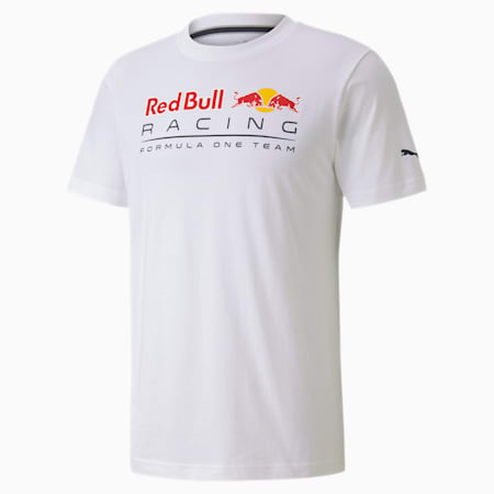 Red Bull Racing Logo Men's Tee, Puma White, small-SEA