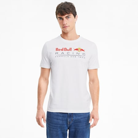 Red Bull Racing Logo T-shirt voor heren, Puma White, small