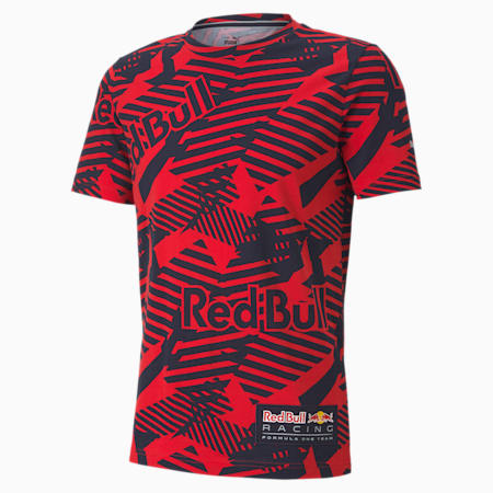 T-shirt Red Bull Racing AOP, homme, Rouge Chinois , petit