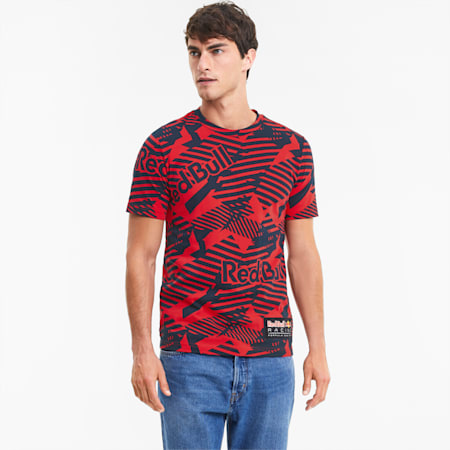 Red Bull Racing Printed Men's Tee, Chinese Red, small