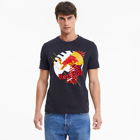 T-Shirt Red Bull Racing Dynamic Bull pour homme, NIGHT SKY, small
