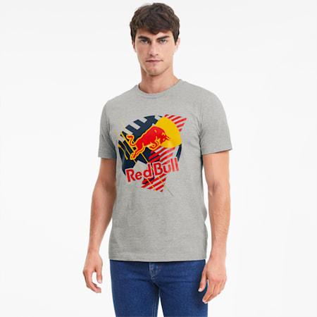 Camiseta Red Bull Racing Dynamic Bull para hombre, Light Gray Heather, pequeño