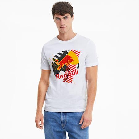 Red Bull Racing Dynamic Bull T-shirt voor heren, Puma White, small