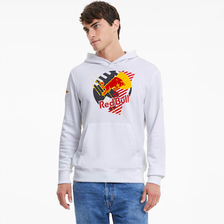 Sweat à capuche Red Bull Racing Dynamic Bull pour homme, Puma White, small