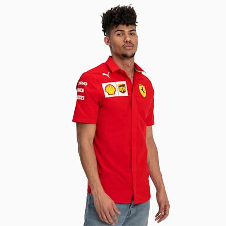 Ferrari Team Kurzarm Herren Hemd, Rosso Corsa-without MW Logo, small