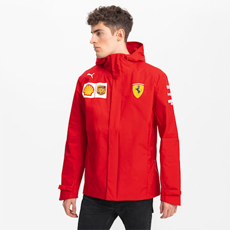 Ferrari Team Woven Hooded Men's Jacket, Rosso Corsa, small