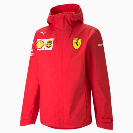Blouson à capuche tissé Ferrari Team pour homme, Rosso Corsa, small