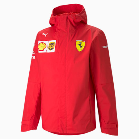 Tkana męska kurtka z kapturem Ferrari Team, Rosso Corsa, small