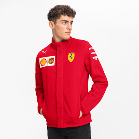 Ferrari Team Men's Softshell Jacket, Rosso Corsa, small