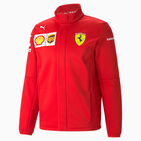 Blouson Softshell Ferrari Team pour homme, Rosso Corsa, small