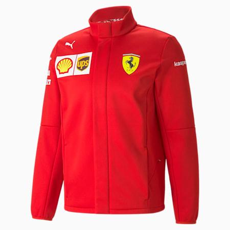 Ferrari Team Men's Softshell Jacket, Rosso Corsa, small