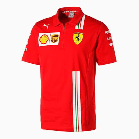 フェラーリ チーム ポロシャツ 半袖, Rosso Corsa, small-JPN