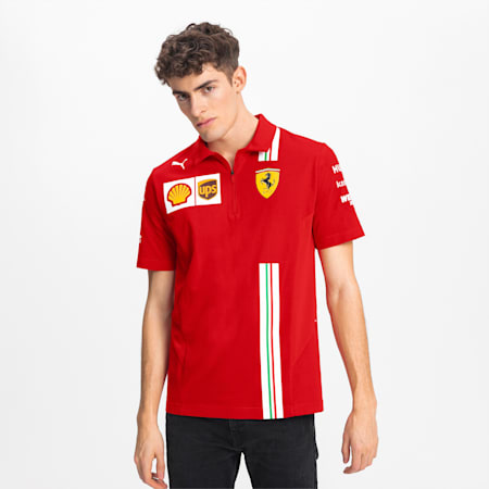 Ferrari Team Men's Polo, Rosso Corsa, small