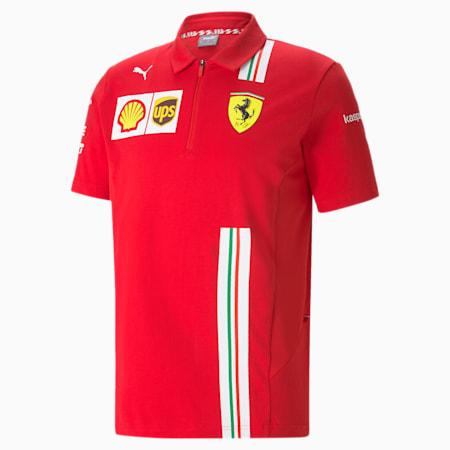 Męska koszulka polo Ferrari Team, Rosso Corsa, small
