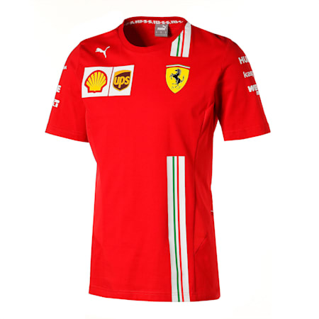 フェラーリ チーム Tシャツ 半袖, Rosso Corsa, small-JPN