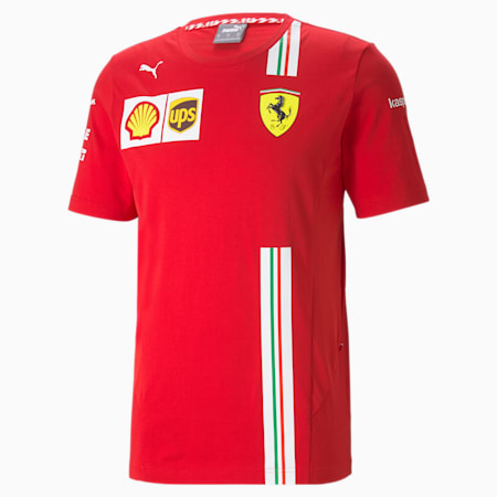 T-Shirt Ferrari Team pour homme, Rosso Corsa, small