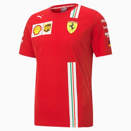 フェラーリ VETTEL レプリカ 半袖 Tシャツ, Rosso Corsa, small-JPN