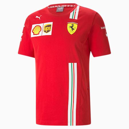Ferrari Leclerc Replica Men's Tee, Rosso Corsa, small