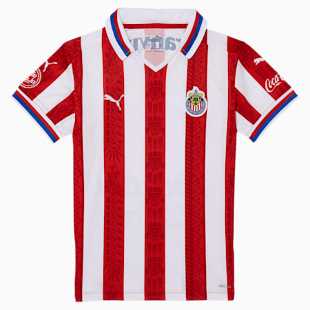 Chivas 20-21 Boys' Home Replica Jersey JR, Puma Red, small