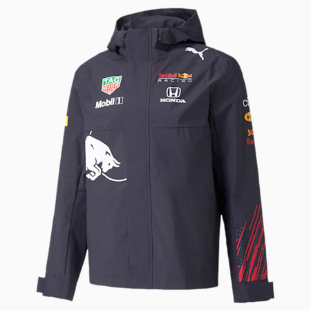 Red Bull Racing Team Men's Rain Jacket, NIGHT SKY, small