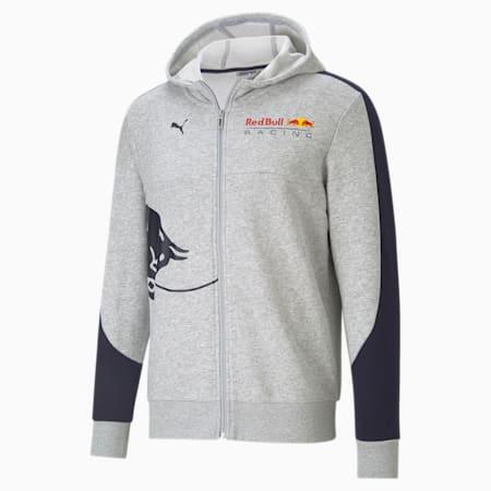 Męska kurtka dresowa z kapturem Red Bull Racing, Light Gray Heather, small