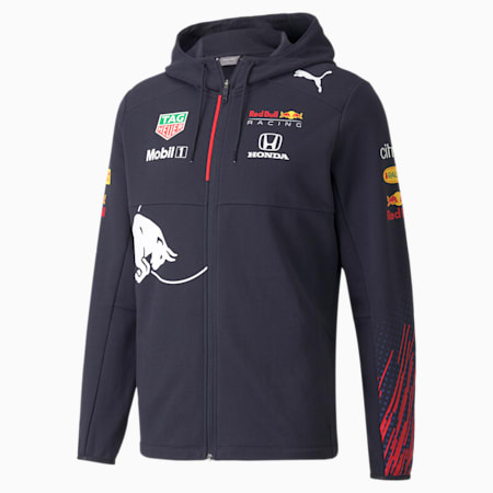 Red Bull Racing Team Full-Zip Men's Hooded Jacket, NIGHT SKY, small