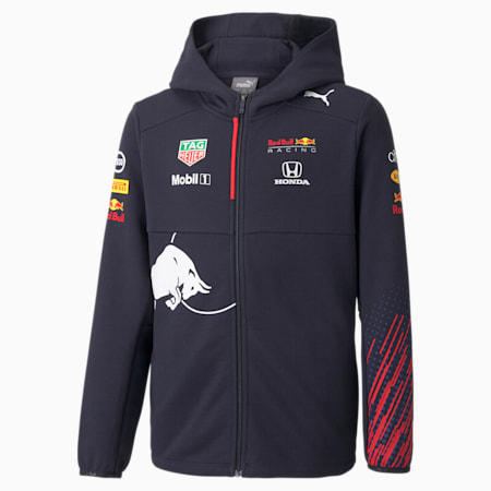 Red Bull Racing Team Full-Zip Hooded Youth Jacket, NIGHT SKY, small