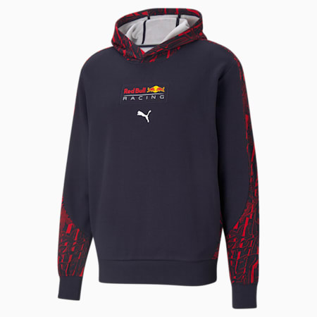 Red Bull Racing Printed Men's Hoodie, NIGHT SKY, small-GBR
