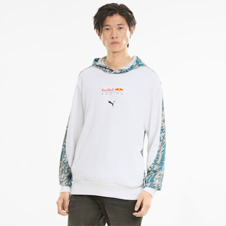 Red Bull Racing Printed Men's Hoodie, Puma White, small