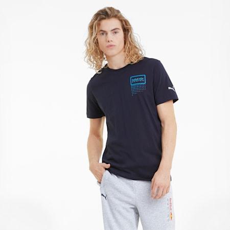 T-shirt con logo dei due tori Red Bull Racing uomo, NIGHT SKY, small