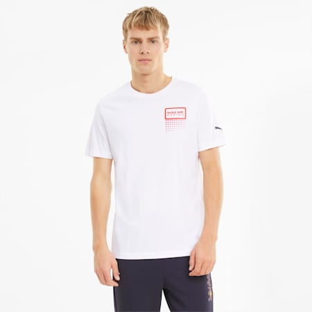 Red Bull Racing Double Bull Men's Tee, Puma White, small