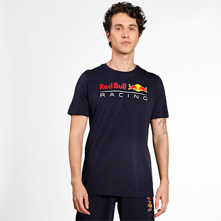 Red Bull Racing Logo Men's  T-shirt, NIGHT SKY, small-IND