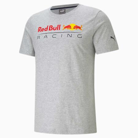 Camiseta con logo Red Bull Racing para hombre, Light Gray Heather, pequeño