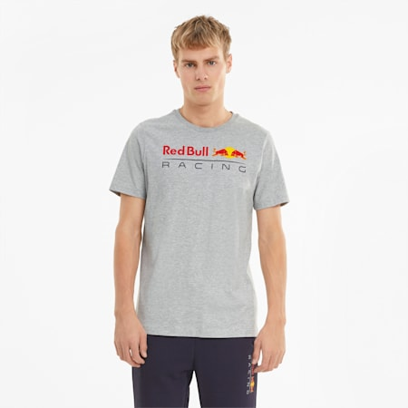 Red Bull Racing Logo Men's Tee, Light Gray Heather, small