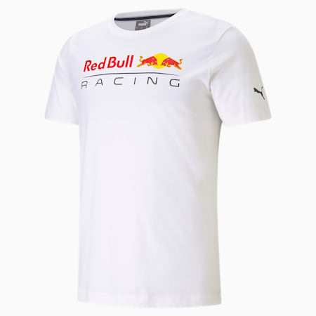 Red Bull Racing Logo Men's  T-shirt, Puma White, small-IND