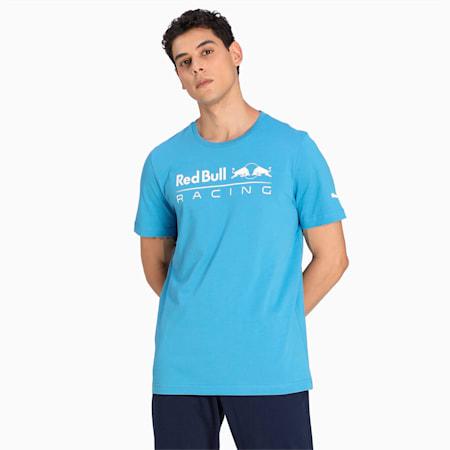 Red Bull Racing Logo Men's  T-shirt, Bleu Azur, small-IND