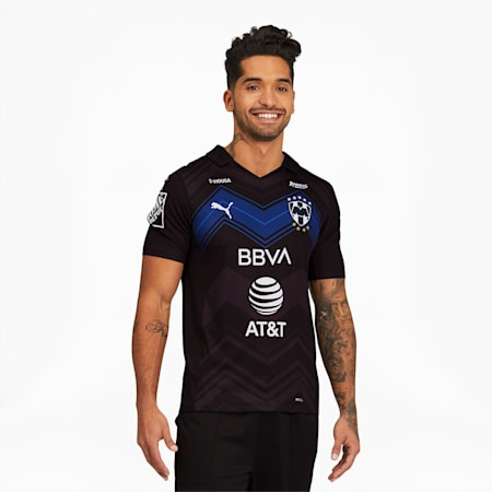 Réplica de camiseta alternativa del Monterrey para hombre, Puma Black, pequeño