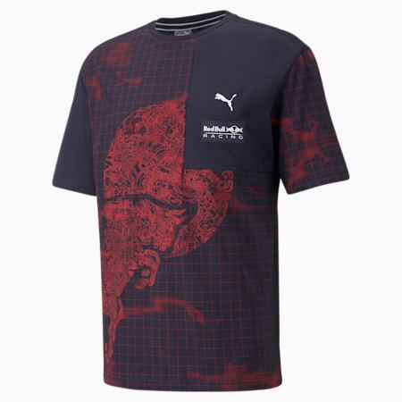 Męski T-shirt z nadrukiem Red Bull Racing, NIGHT SKY, small