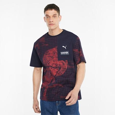 Red Bull Racing bedrukt T-shirt heren, NIGHT SKY, small