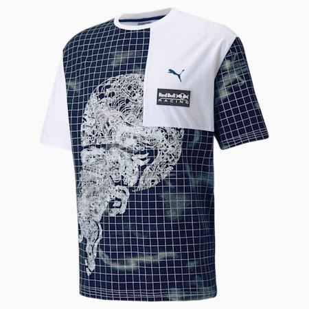 Męski T-shirt z nadrukiem Red Bull Racing, Puma White, small