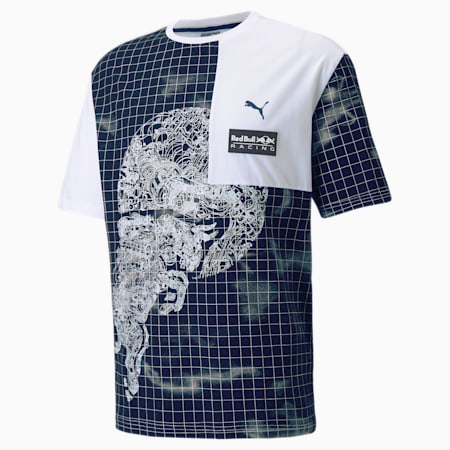 T-shirt imprimé Red Bull Racing, homme, Blanc Puma, petit