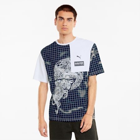 Red Bull Racing AOP Men's Loose T-Shirt, Puma White, small-IND